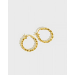 MADELINE Gold Vermeil Hoop Earrings