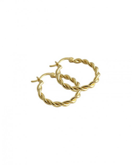 MADELINE Gold Vermeil Hoop Earrings
