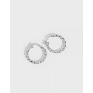 MADELINE Sterling Silver Hoop Earrings