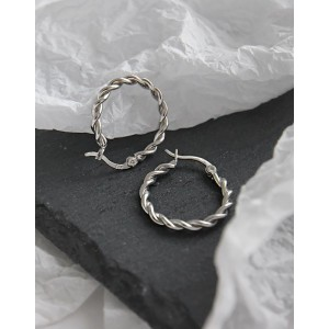 MADELINE Sterling Silver Hoop Earrings