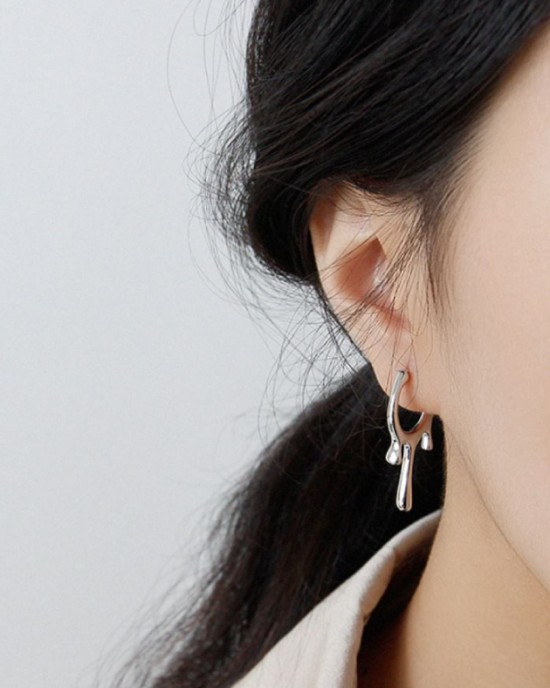 MELTING Open Hoop Earrings