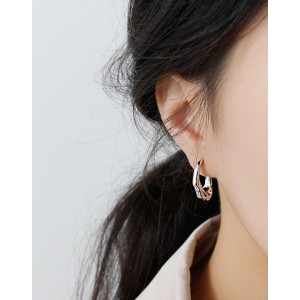 MILLIE Silver Open Hoop Earrings