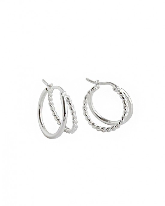 PAOLA Sterling Silver Double Hoop Earrings