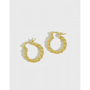 SAVANNAH Gold Vermeil Twisted Hoop Earrings