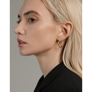 SIENNA Gold Vermeil Hoop Earrings