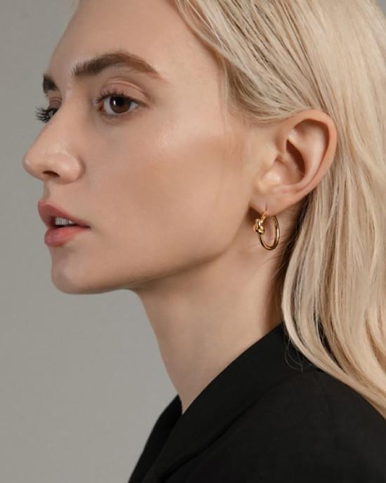 SIENNA Gold Vermeil Hoop Earrings