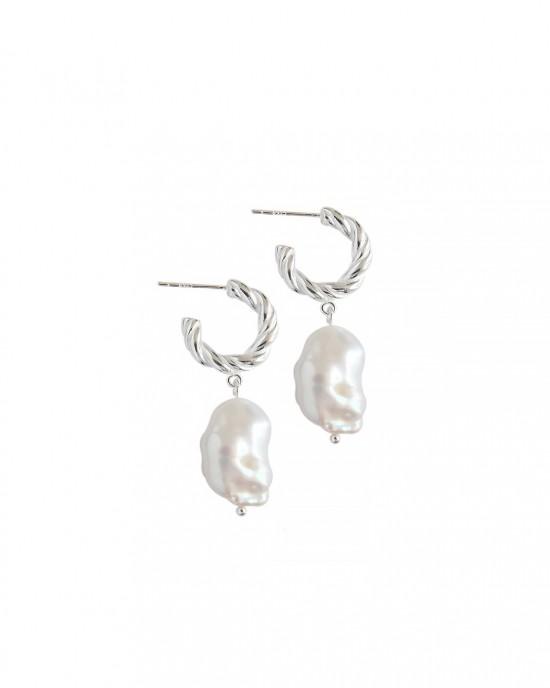 SOPHIA Silver Baroque Pearl Earrings