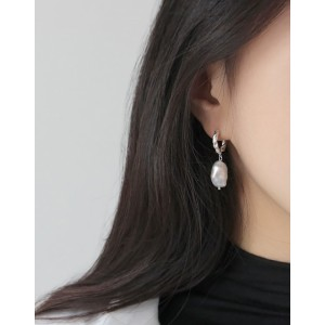 SOPHIA Silver Baroque Pearl Earrings