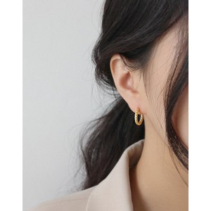 VEGA Gold Vermeil Hoop Earrings
