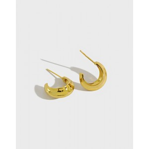 WILLOW Gold Vermeil Hoop Earrings