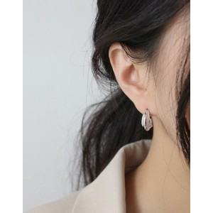 WILLOW Sterling Silver Hoop Earrings