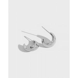 WILLOW Sterling Silver Hoop Earrings