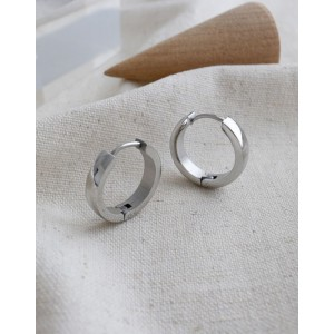 DANA Silver Hoop Earrings | Thin