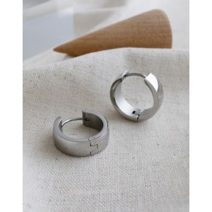 DANA Silver Hoop Earrings | Wide