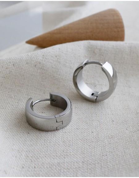 DANA Silver Huggies | Medium & Wide