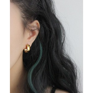 DANA Gold Hoop Earrings | Wide