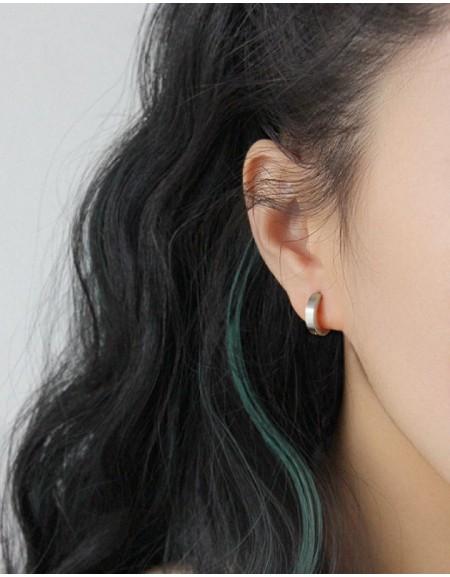 DANA Silver Huggies | Small & Thin
