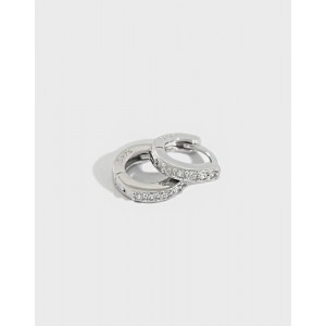 ELVA Sterling Silver Huggies | Small