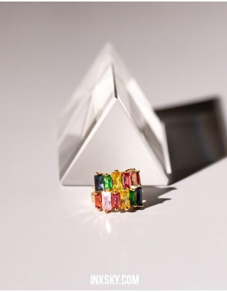 LOLA Rainbow Glass Stones Huggies