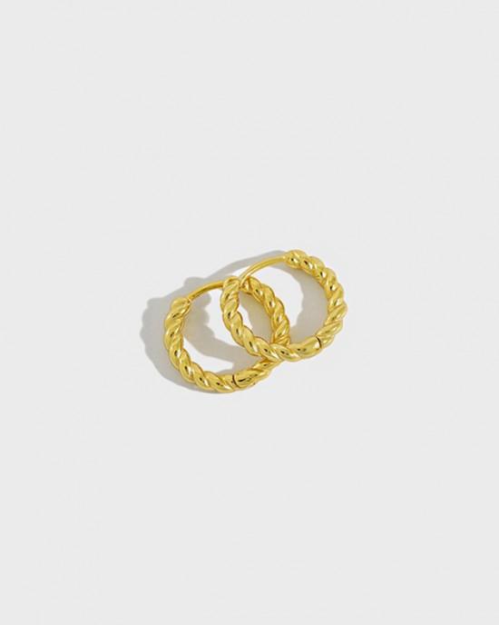ZURI Gold Vermeil Huggies