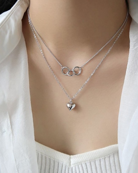 AIKO Sterling Silver Necklace