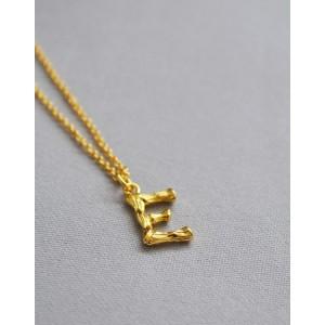 ALPHABET Necklace   Letter E