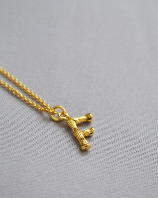 ALPHABET Necklace | Letter F