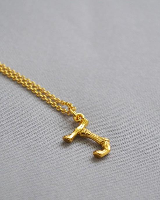 ALPHABET Necklace | Letter J