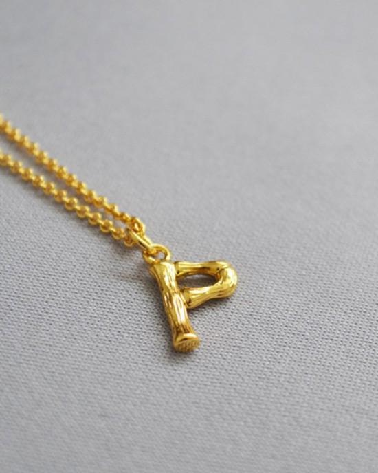 ALPHABET Necklace | Letter P