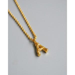 ALPHABET Necklace   Letter A