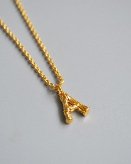 ALPHABET Necklace | Letter A