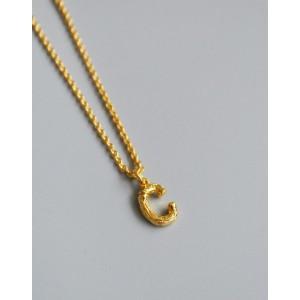 ALPHABET Necklace   Letter C
