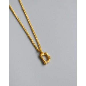 ALPHABET Necklace   Letter D