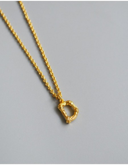 ALPHABET Necklace | Letter D