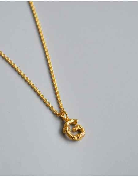 ALPHABET Necklace | Letter G