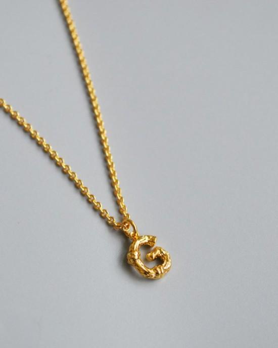 ALPHABET Necklace | Letter G