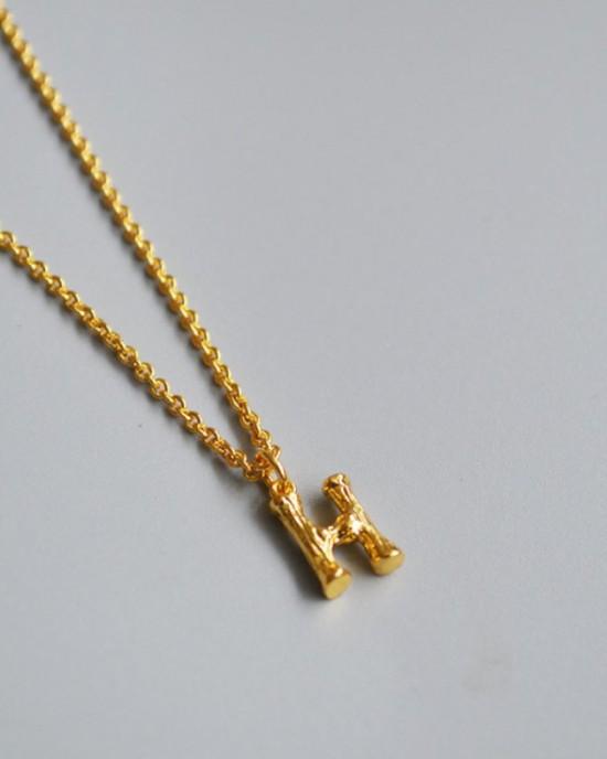 ALPHABET Necklace | Letter H