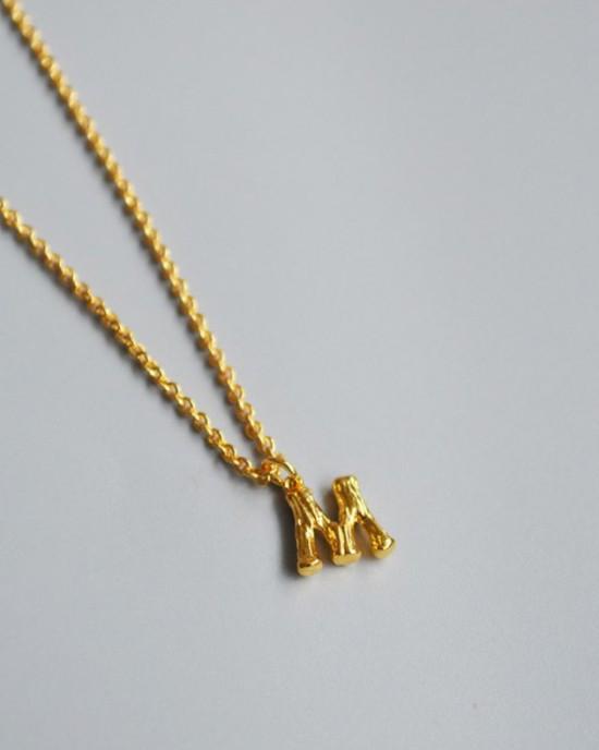 ALPHABET Necklace | Letter M