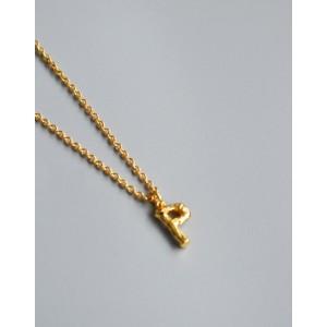 ALPHABET Necklace   Letter P