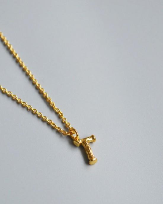 ALPHABET Necklace   Letter T