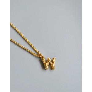 ALPHABET Necklace | Letter W