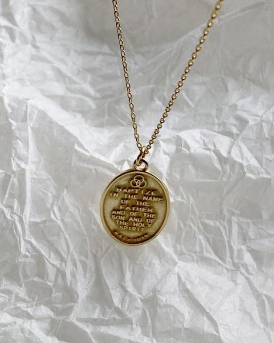 BAPTISM Gold  Vermeil Necklace