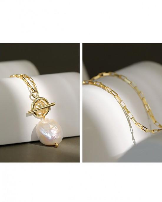 BAROQUE PEARL DROP Necklace
