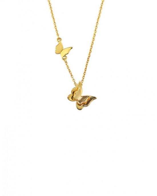 BUTTERFLY Gold Vermeil Choker