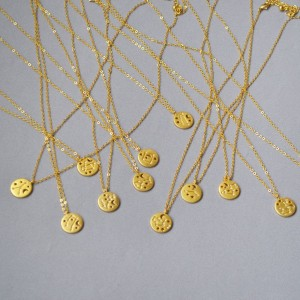 SAGITTARIUS Constellation Coin Necklace