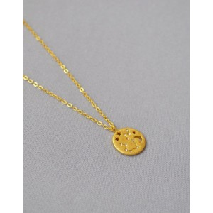 AQUARIUS Constellation Coin Necklace