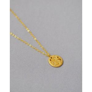 AQUARIUS Constellation Coin Necklace