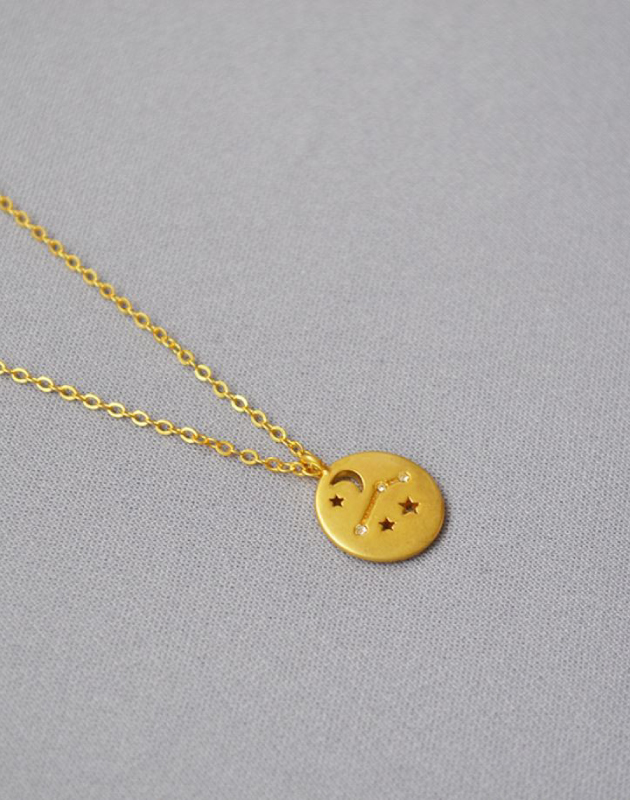 ARIES Constellation Coin Necklace