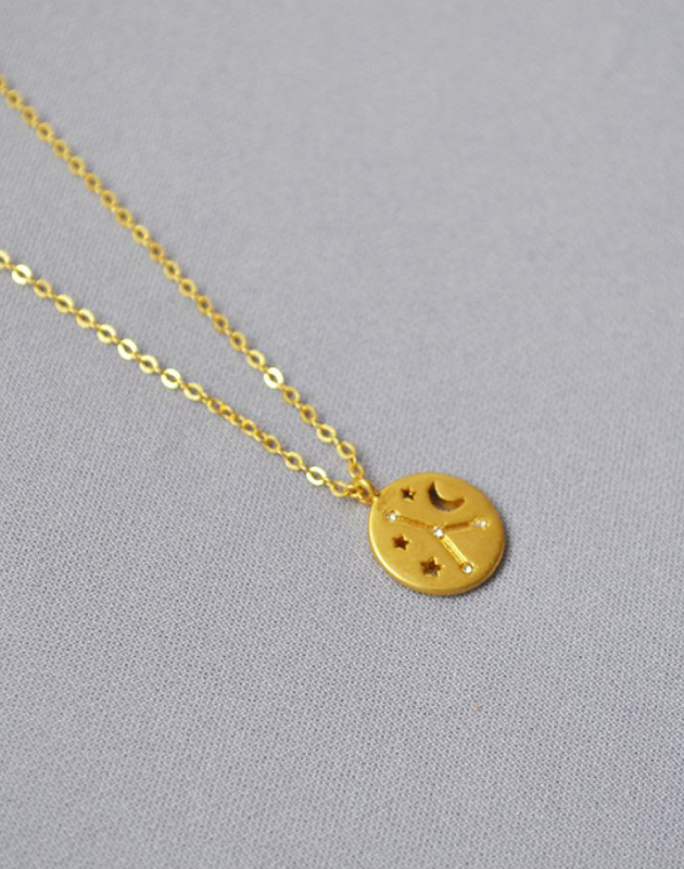 CANCER Constellation Coin Necklace