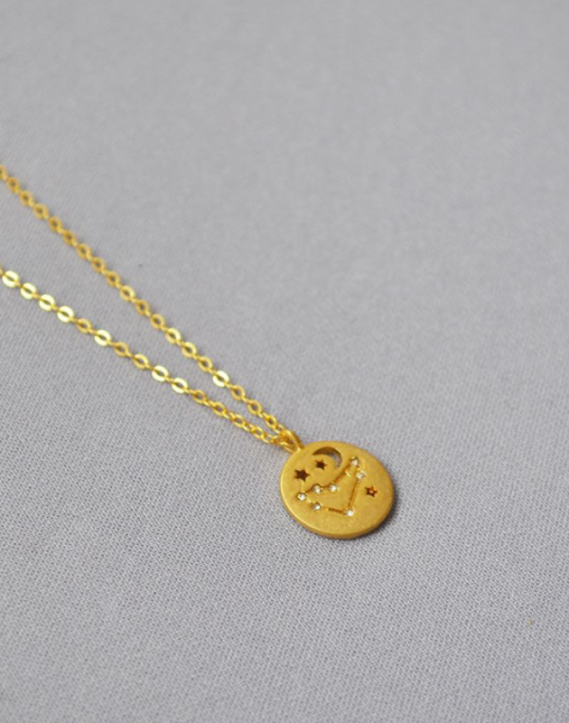 CAPRICORN Constellation Coin Necklace
